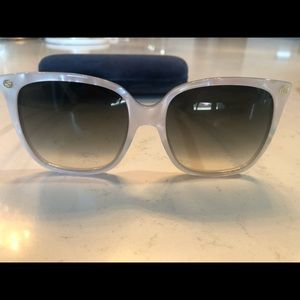 Gucci White Square Sunglasses